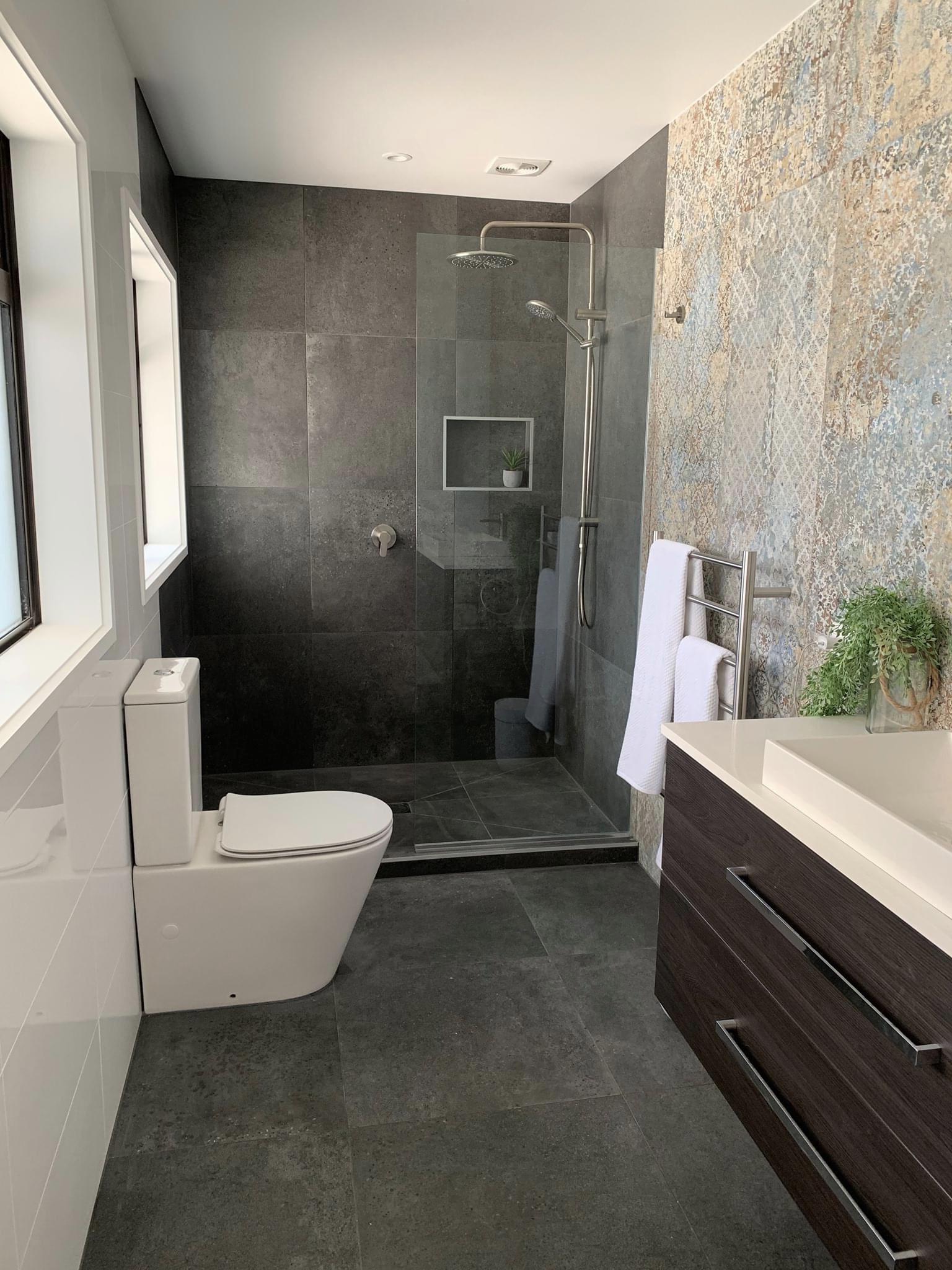 Newly renovated bathroom toilet